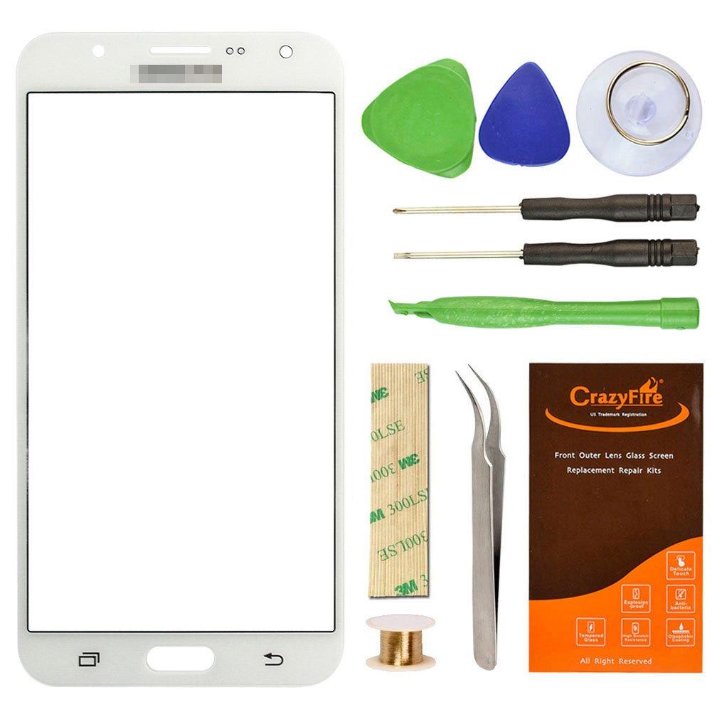 Amazon.com: Samsung Galaxy J7 J700F White Replacement Screen Lens ...