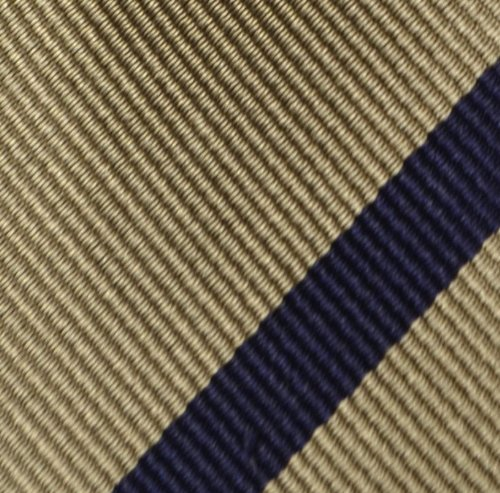 Pocket Silk in Men's Beige Notch Square dark with blue base stripes EPTpnqnw