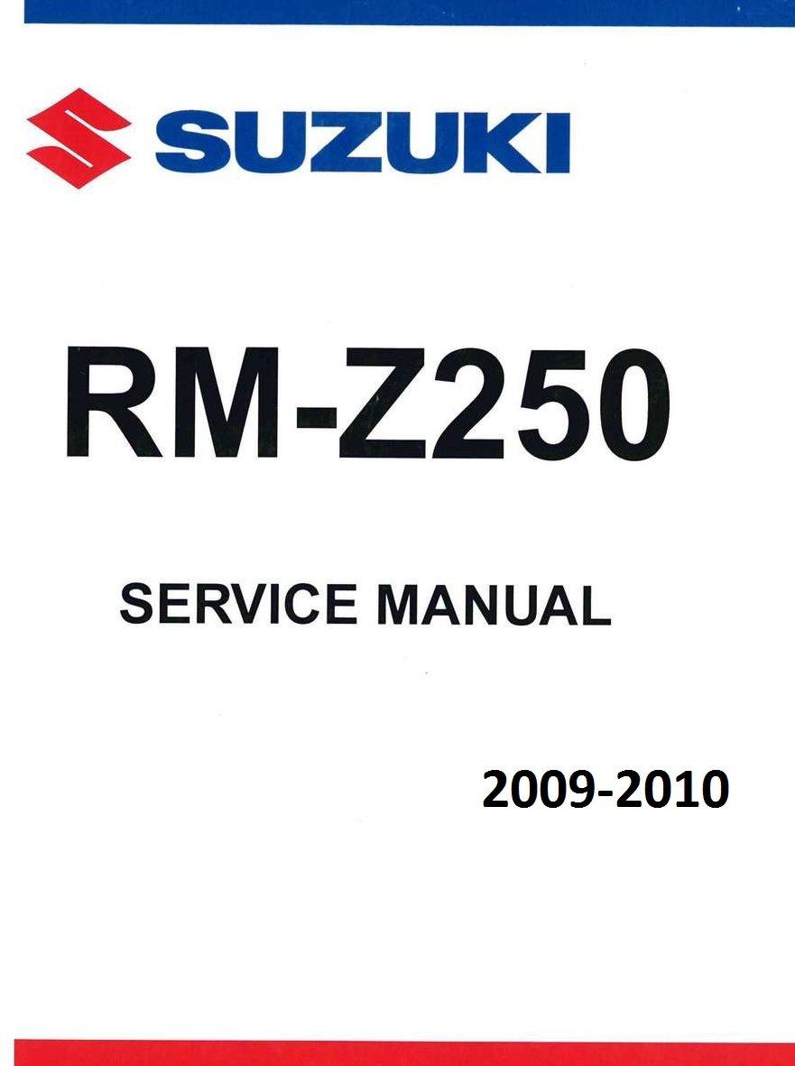 Amazon.com: Suzuki RMZ 250, RM-Z250, 2009-2010, Repair Service Manual  CD/DVD/PDF