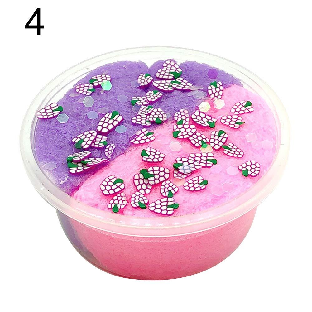 BrawljRORty Stress Relief Toys, 60/100ml Fruit DIY Mud Clay Slime Putty Plasticine Sludge Stress Relief Toy