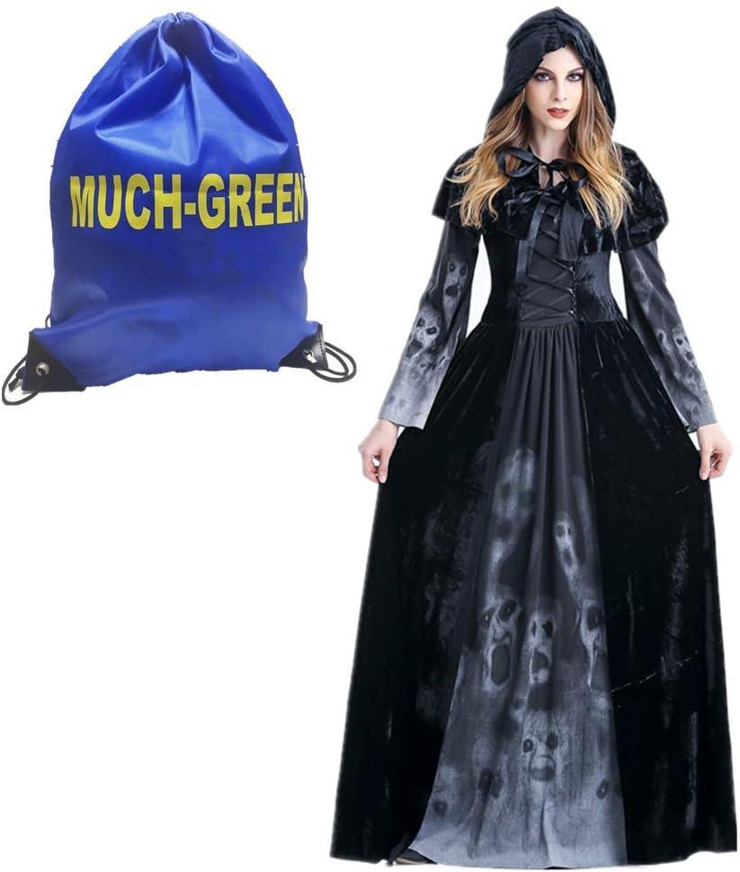 Nero Bianco Halloween Teschio di stampa spiccano Costume adulto uomo tuta 3 PEZZI