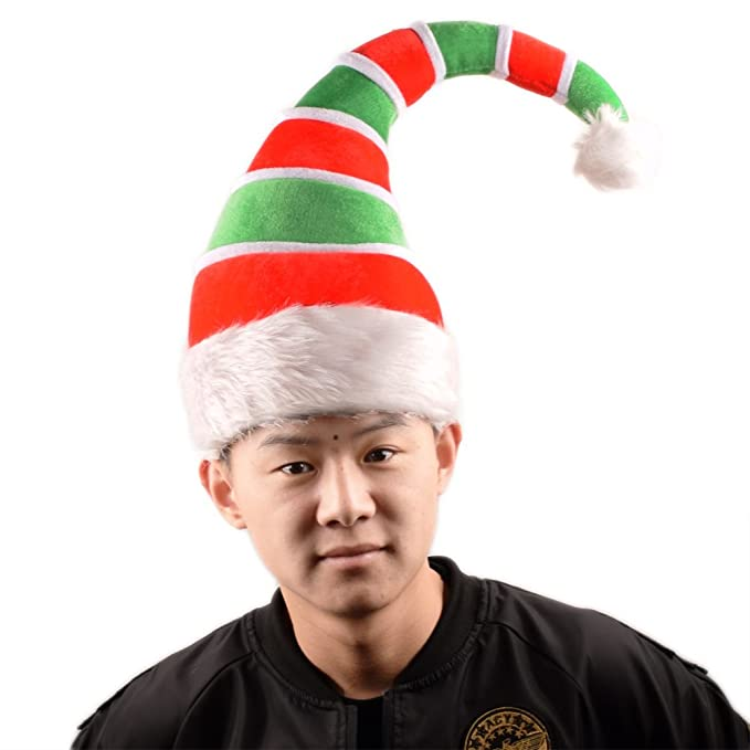 d2f0a97e0640c Amazon.com  ADJOY 3D Christmas Ugly Sweater Party Elf Hat - Christmas  Spirit Hat for Adult (3D Elf Hat)  Toys   Games