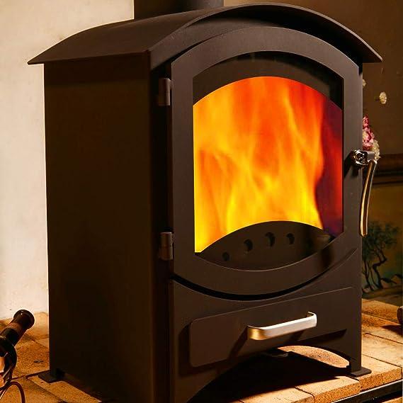 Estufa a leña de hierro fundido Astove, de 5,5 kW, de combustibles múltiples, madera, carbón, de alta eficiencia, con certificado CE: Amazon.es: Hogar