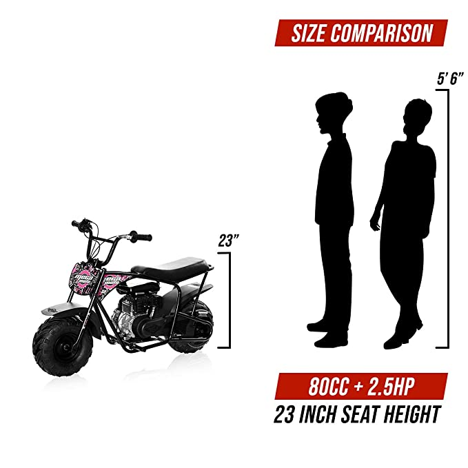 Amazon.com: Mini motocicleta de Monster Moto, rosado, (Muddy ...