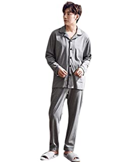 469fe5e900 Cotton Men s Long Sleeve Set Classic Pajama Traditional Pajama Casual with Pants  Fashion Brands Lightweight Comfort