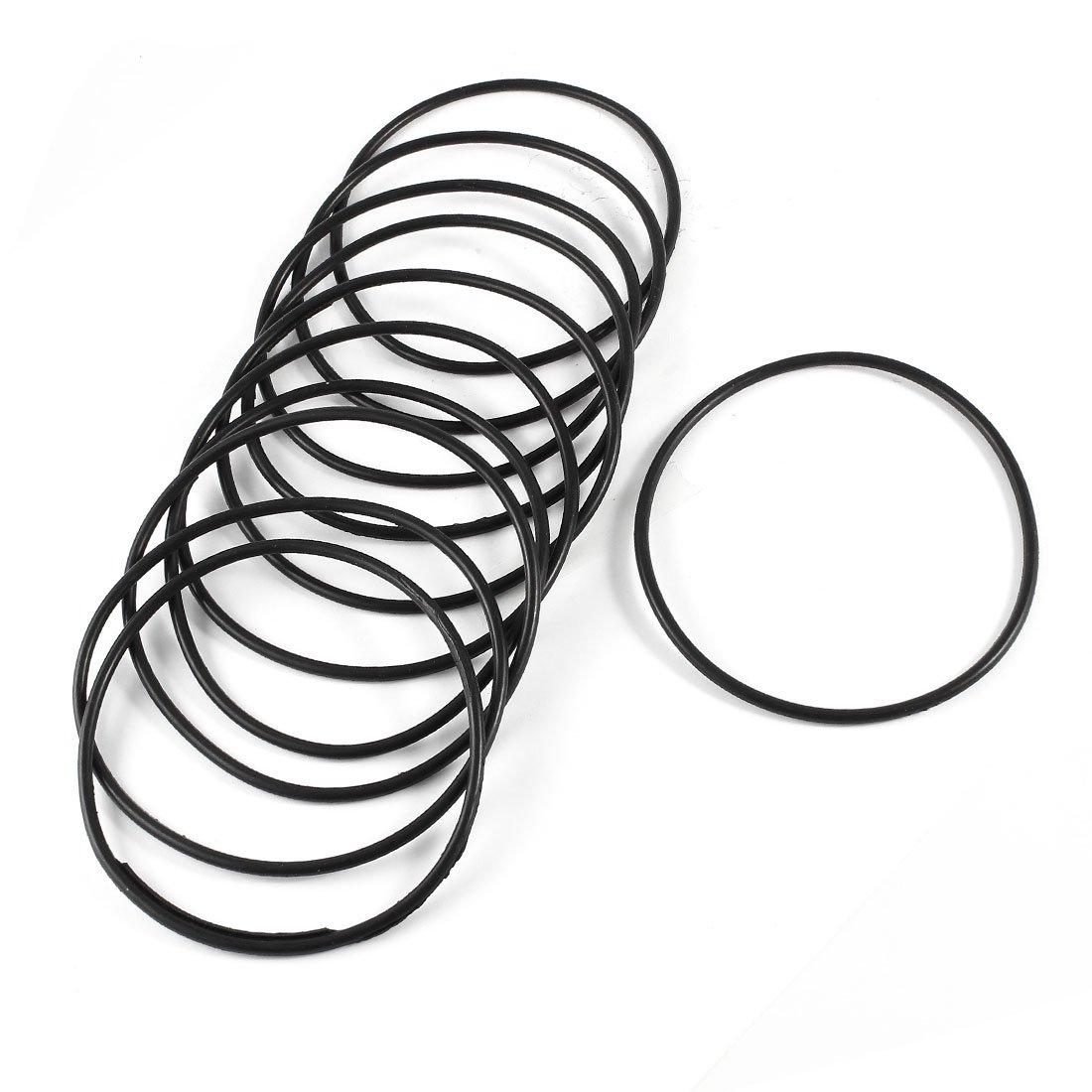 sourcingmap/® 10 St/ück 80mm x 2,4mm mechanische O Ringe /Ölabdichtung Dichtung schwarz DE de