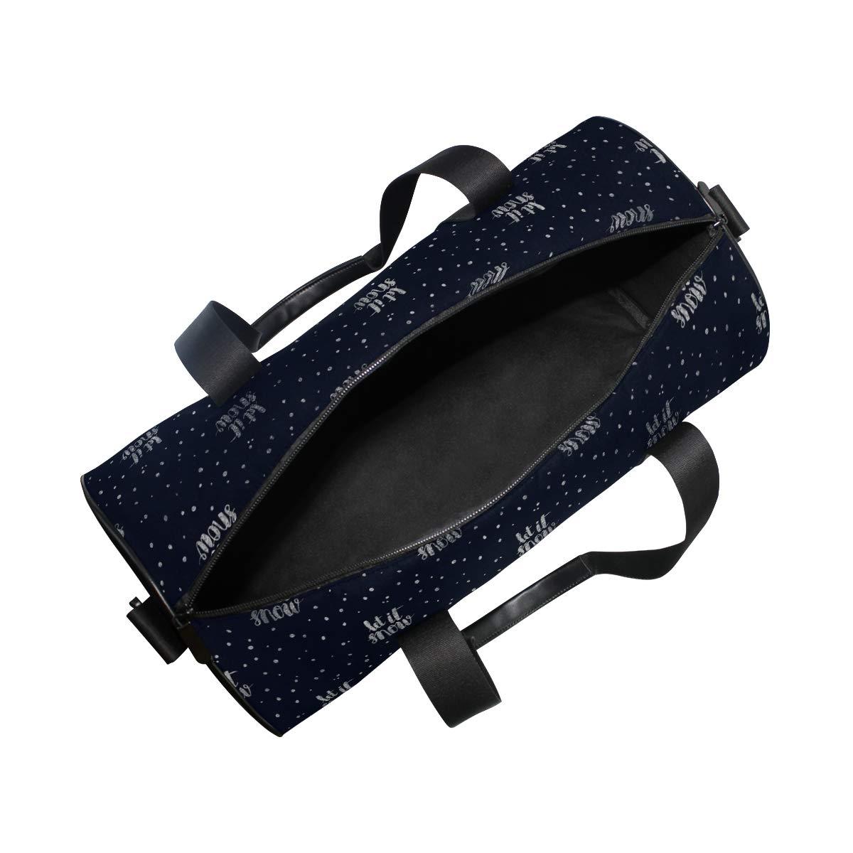 MALPLENA Doodle Style Let It Snow Drum gym duffel bag women Travel Bag