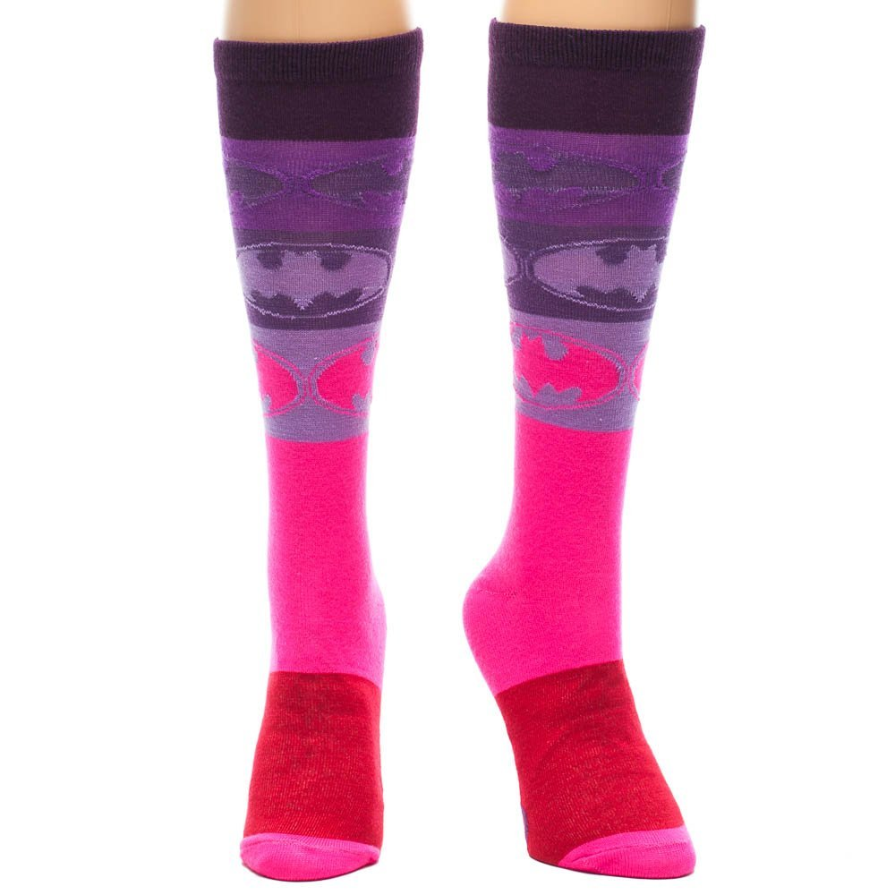 Animewild Batman Gradient Pink Purple Knee High Socks