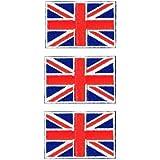 イギリス国旗ワッペン ユニオンジャックエンブレム SS-3枚セット