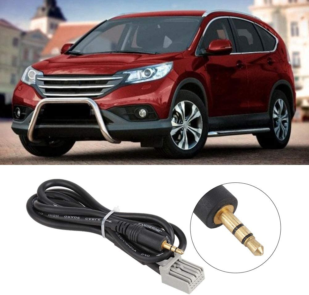 Aramox Audio Aux Cable 3.5mm Audio Car GPS Cable AUX Adapter For Honda Civic 2006-2013 CRV Accord Input Connector