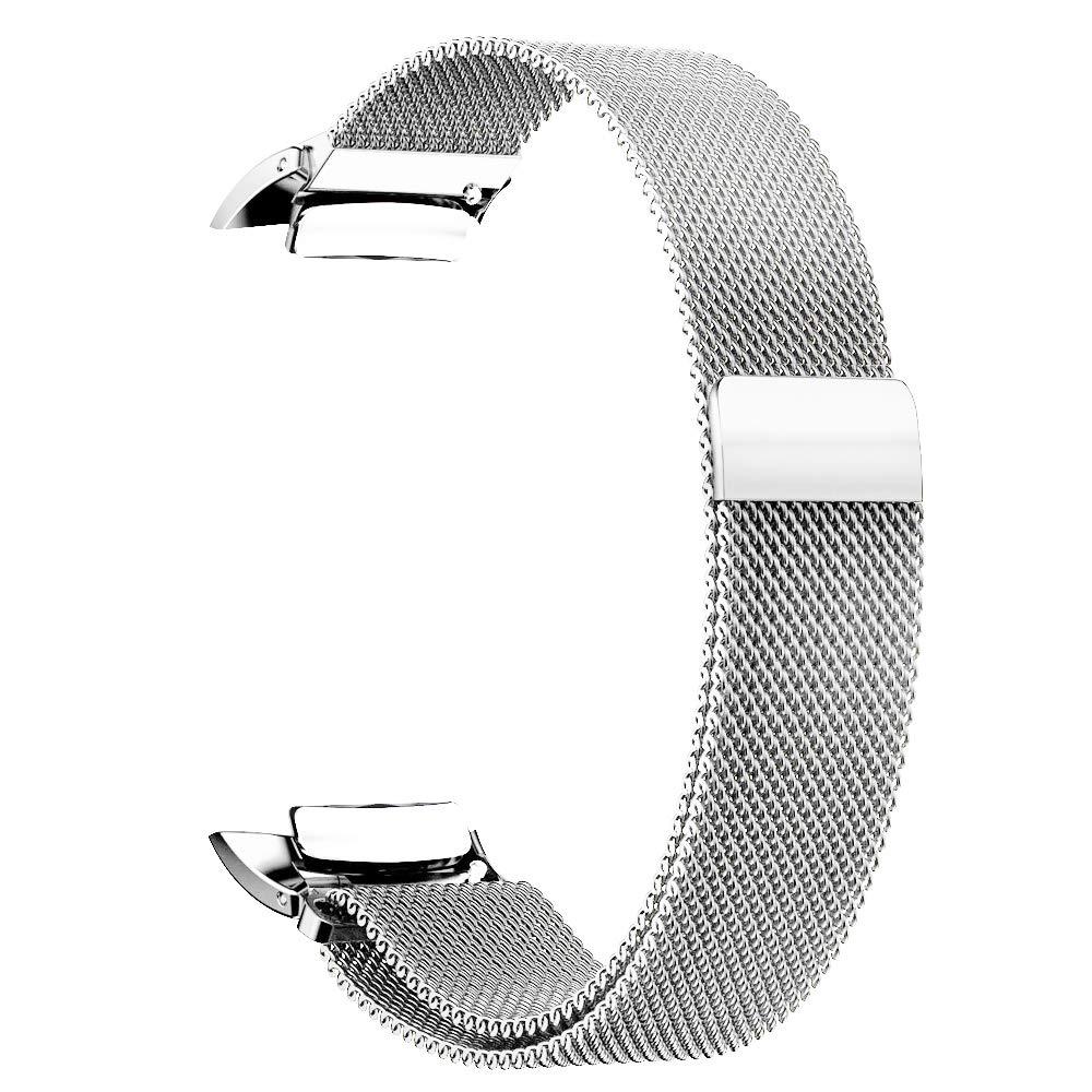 Simpeak Compatible Samsung Gear Fit 2 Pro Correa 5.25-6.7 Pulgadas Samsung Gear Fit 2 Milanese Loop Correa de Acero Inoxidable Reemplazo Wristband Pulseras Bandas con Cerradura Im/án /Único Negro