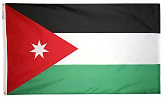 product image for Annin Flagmakers Model 194378 Jordan Flag 3x5 ft. Nylon SolarGuard Nyl-Glo 100% Made in USA to Official United Nations Design Specifications.