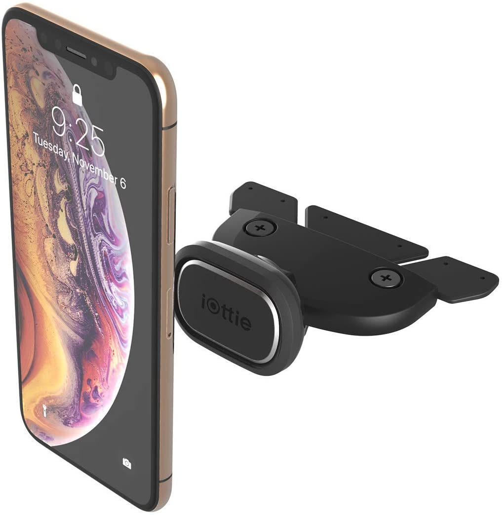 iOttie iTap 2 Magnetic CD Slot Car Mount Holder    Cradle for IPhone Xs Max R 8 Plus 7 Samsung Galaxy S10 E S9 S8 Plus Edge Note 9 & Other Smartphones