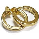 Non-Pierced Clip On Hoops Fake Earrings Silver Lip Nose Belly Eyebrow Earrings Body Jewellery for Men & Women