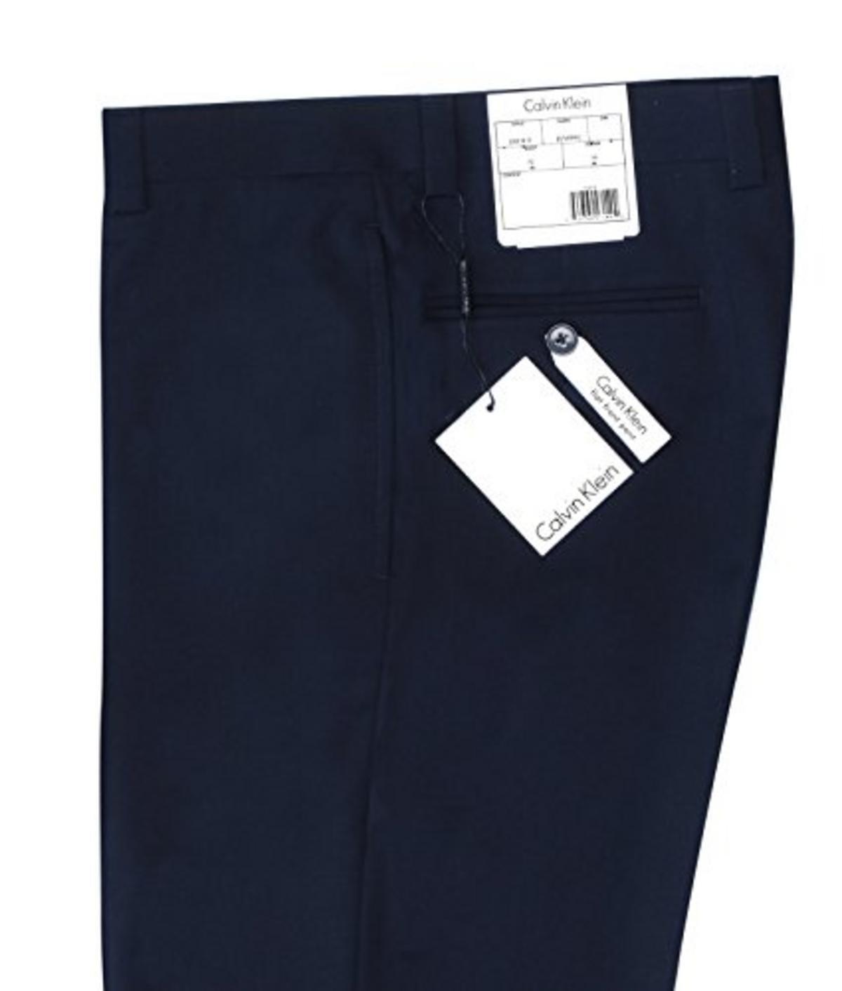 Calvin Klein Mens Modern Fit Performance Flat Front Dress Pant Calvin Klein Tailored JRDLPJJX