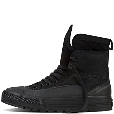 12f491543b46c2 Converse Men s Chuck Taylor All Star Tekoa Leather Quilted XHI Black Shale  Grey