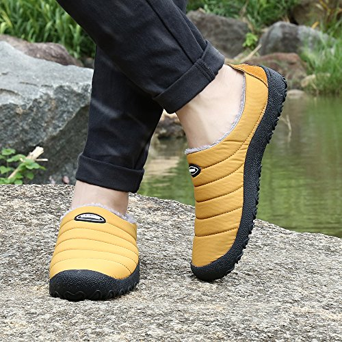 Casual Outdoor Boots Fur Winter Men Shoes Lined UBFEN Women C Waterproof Slip Ankle on Yellow Snow Warm Fully qFZx7g