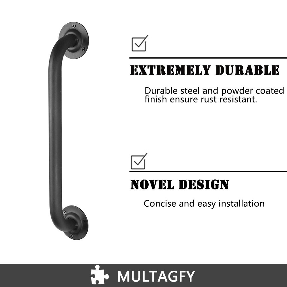 18'' Door Pull Handle Pipe Cast Iron Barn Door Handle Door Hardware Black Rustic Handles … by MULTAGFY (Image #2)