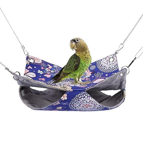 Keer - Hamaca Doble para pájaros y Loros, periquitos, periquitos ...