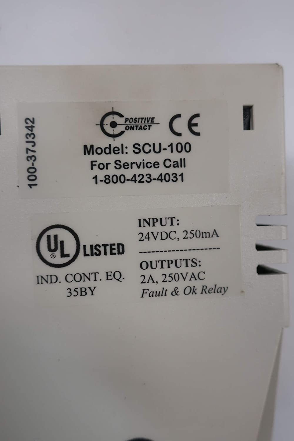 POSITIVE CONTACT SCU-100 Sensor Control Relay Unit 24V-DC