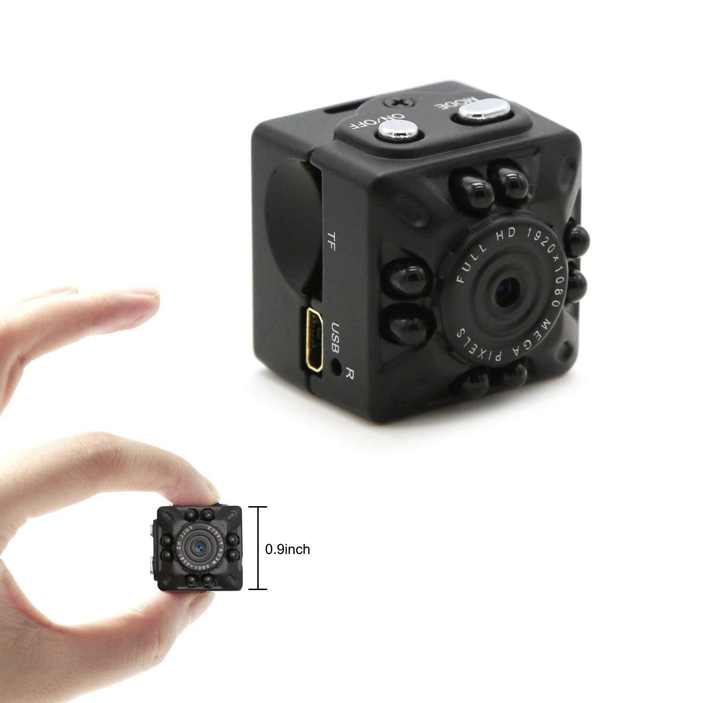 【ファッション通販】 IRの夜間視界及び動き検出、家のための保証監視カメラが付いている小型DVのカメラの小さいカメラ1080P完全なHDのカメラ   B07QNKGF6L, Interiorshop COZY ce2af93f