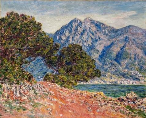 Oil Painting 'Cap Martin, 1884 By Claude Monet' Printing On Perfect Effect Canvas , 18x22 Inch / 46x57 Cm ,the Best Living Room Decoration And Home Decoration And Gifts Is This High Quality Art Decorative Prints On Canvas