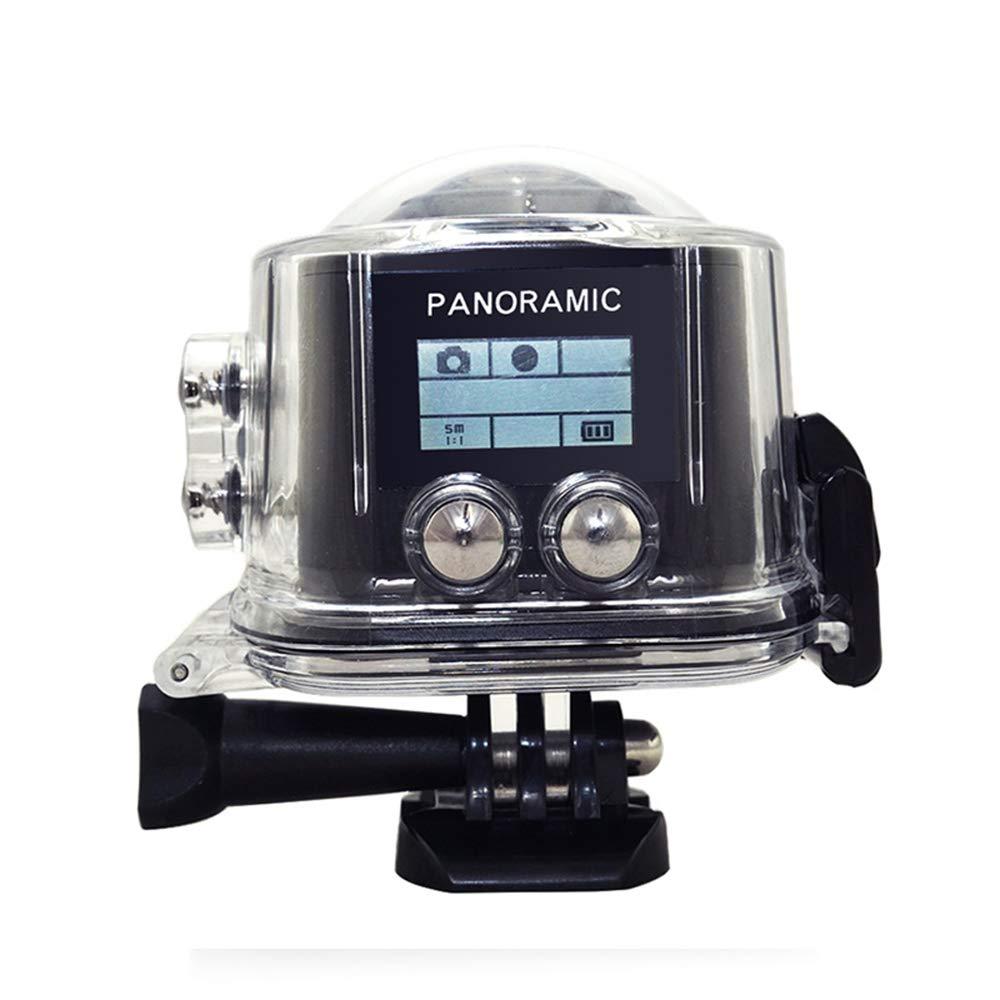 ZYSMC 360-Grad-VR-Panorama-Filmkamera WiFi im Freien Wasserdichte Mini-Sportkamera