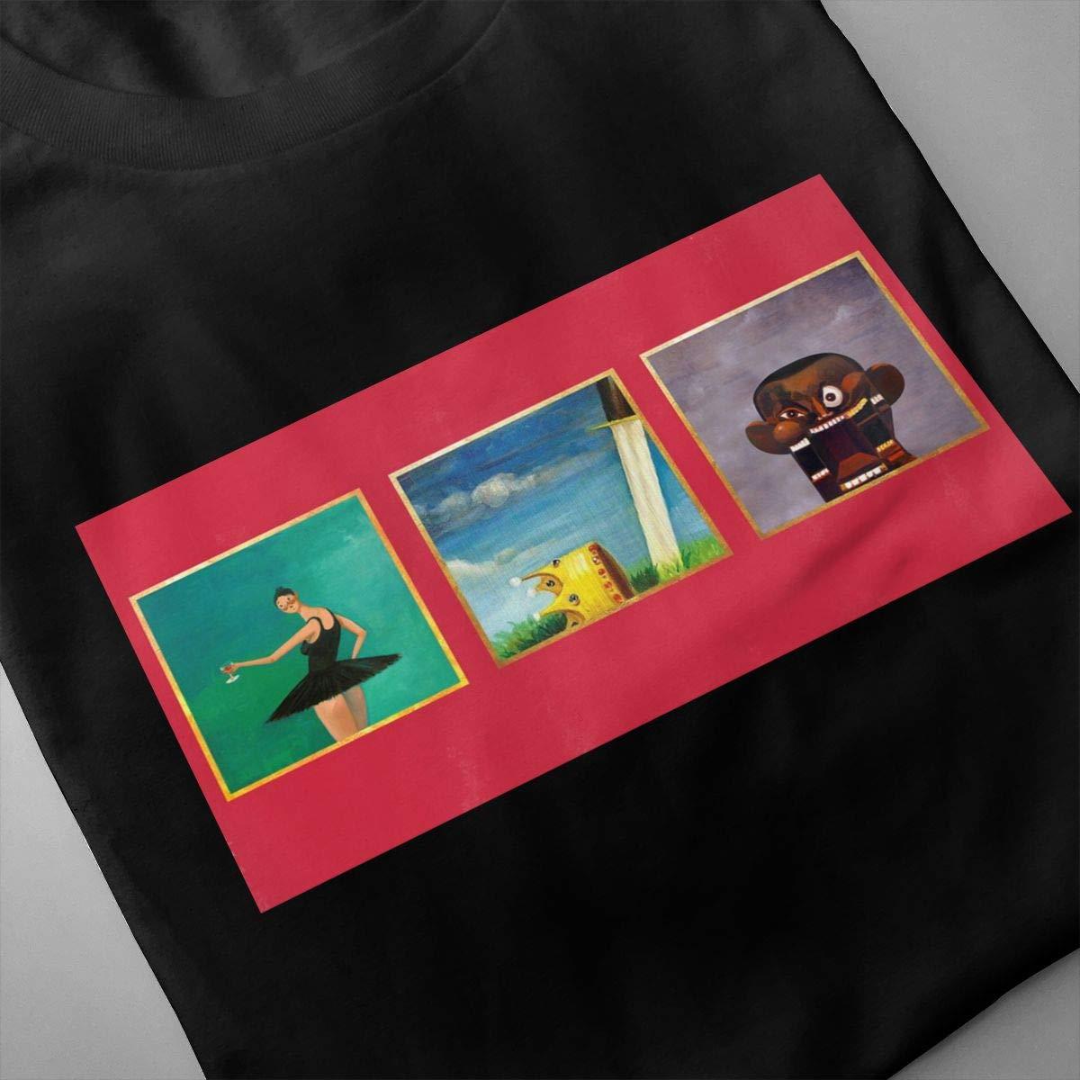 LANBRELLA Kanye West My Beautiful Dark Twisted Fantasy Mens Sport Crew Neck Short Sleeve Tee Shirt