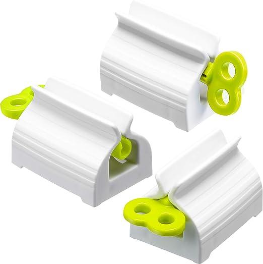 X-BLTU 7 Piezas Tubo de Pasta de Dientes Enrollable Exprimidor Clips de Pasta de Dientes Soporte del Asiento Soporte Girar Dispensador de Pasta de Dientes para Ba/ño