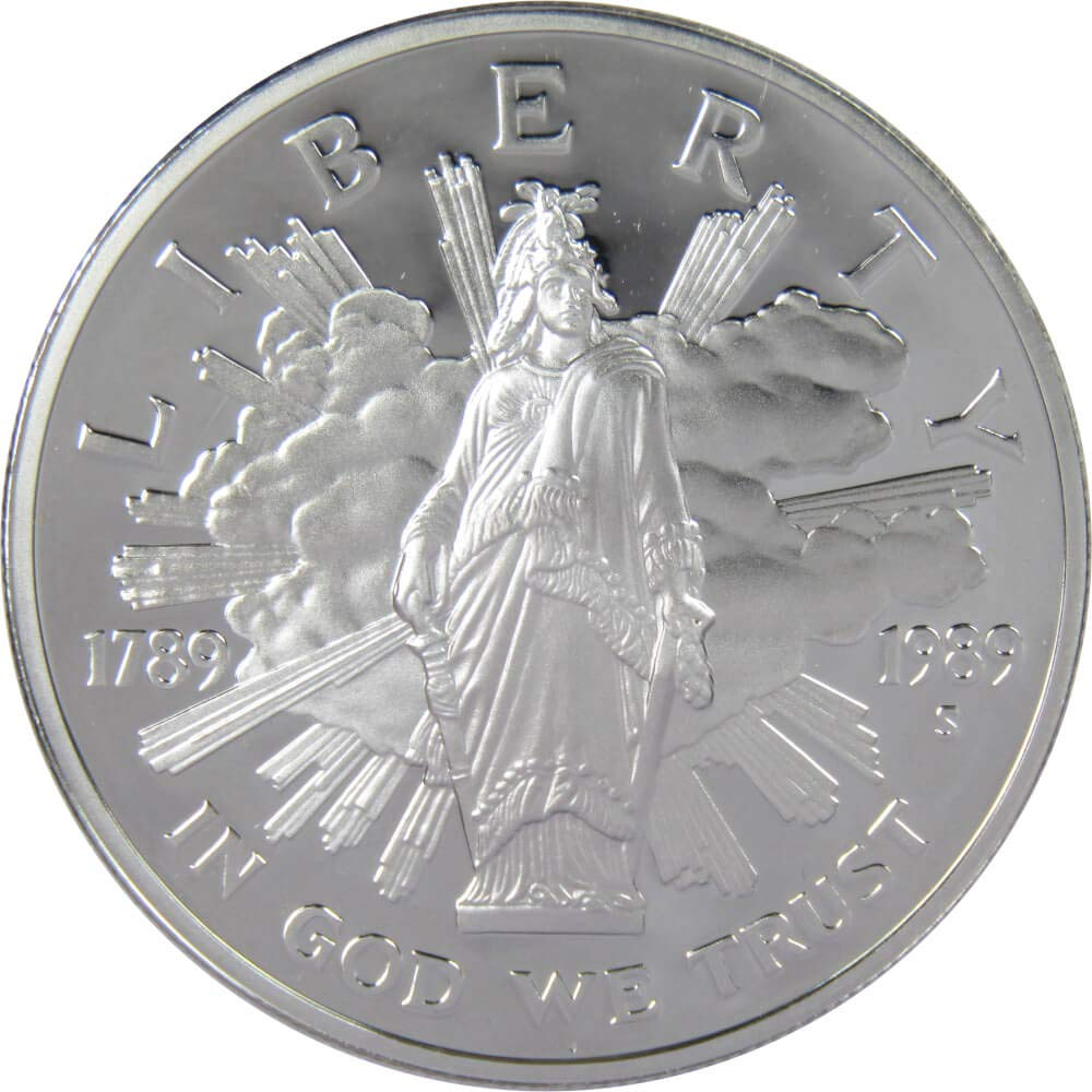 """90/% Silver 1989 S PROOF /""""Congress/"""" Commemorative Dollar Free Shipping!"""