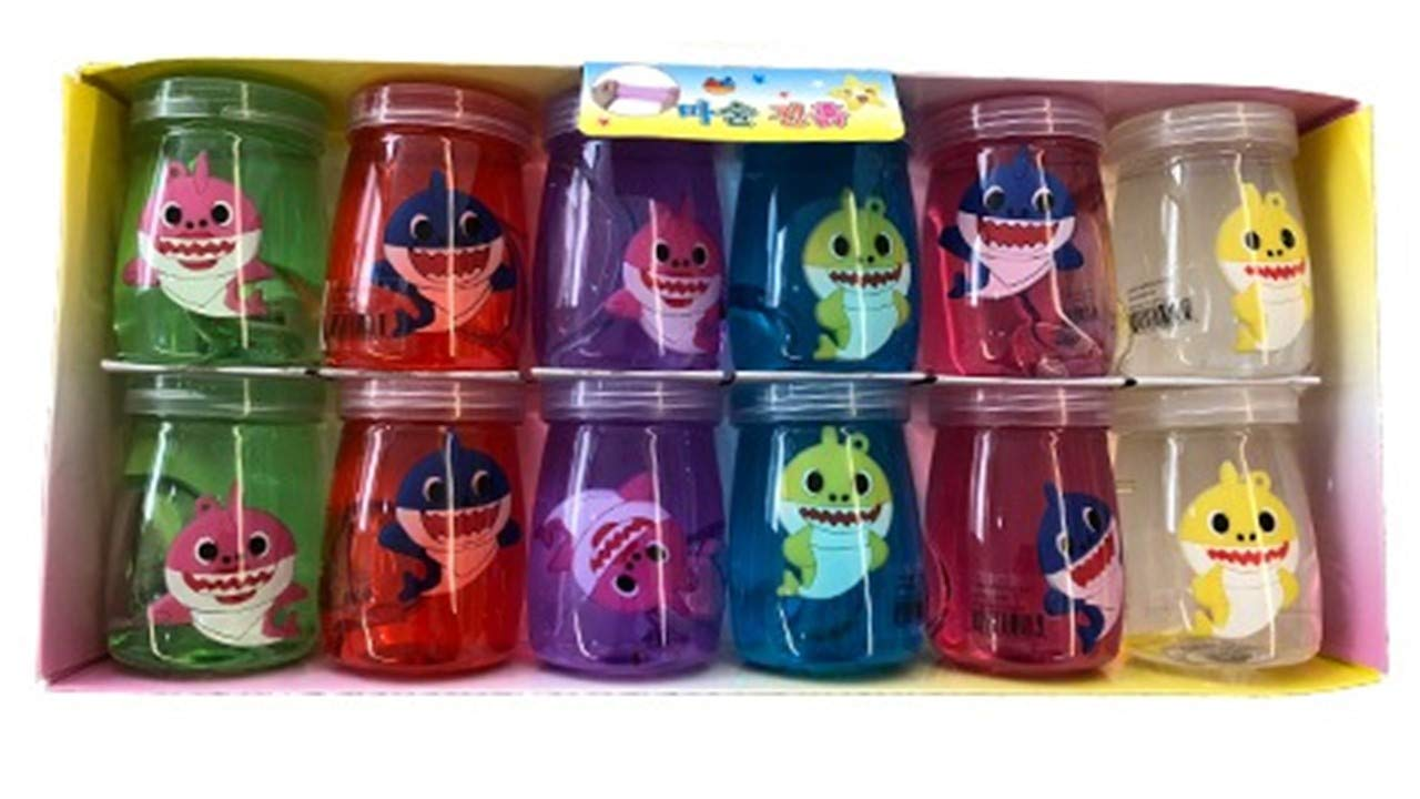 Super Light Clay 12 Pack Baby Shark Mud Slime for Kids Party Favors