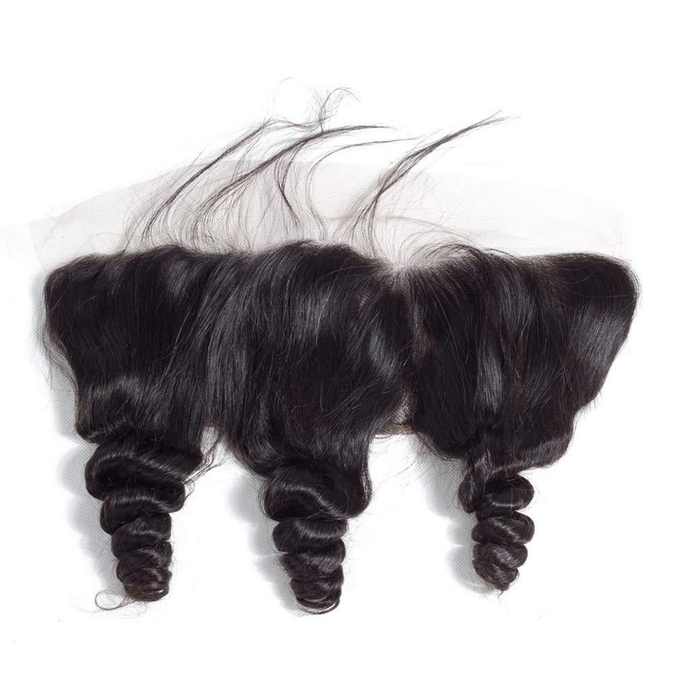 YAHONGOE 自由な部分レース前頭閉鎖緩い波ブラジルバージン人間の髪13