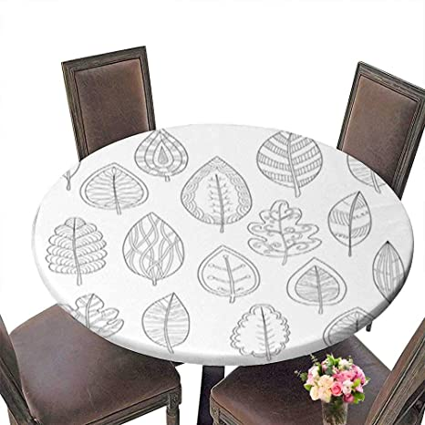 Amazon Com Decorative Round Tablecloth Collection Of Leaves For