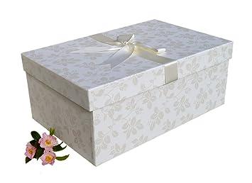 X Large Handmade WEDDING DRESS BOX Claremont Ivory 75cm 50cm 30 Cm