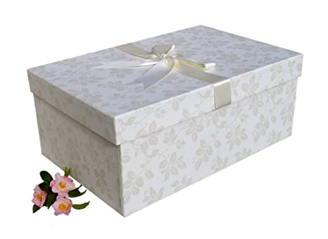 X Large Wedding Dress Box (Garden Blue)) - Caja Decorativa