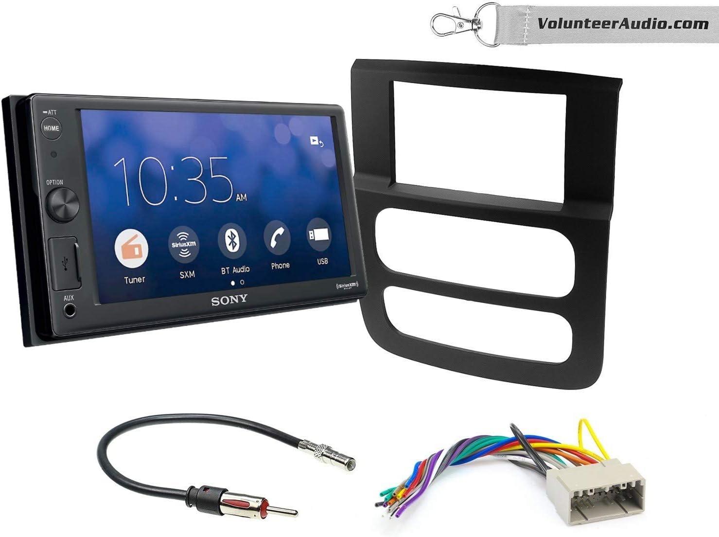 Sony XAV-V10BT Double Din Radio Install Kit With Sirius XM Ready Fits 2002-2005 Ram