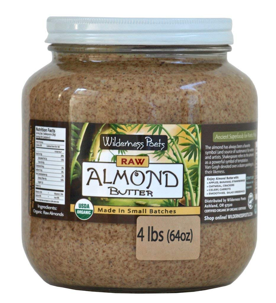 Wilderness Poets, Almond Butter - Organic Raw Nut Butter (64 Ounce - 4 Pound