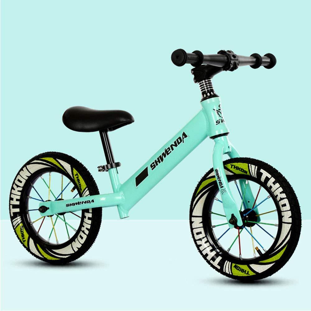 60% de descuento verde Productos infantiles Bicicleta De Entrenamiento para NiñOs Balance Balance Balance Sin Pedales, Cuerpo De Acero De Alto Cochebono   NeumáTicos Antideslizantes De 12 Pulgadas   Altura del Asiento Ajustable  ahorra 50% -75% de descuento