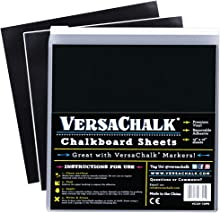 VersaChalk Vinyl Chalkboard Sheets 12 x 12-inch Pack of 20 - Vinyl Chalkboard Sheets for Cricut, Xyron, Pazzles, Silhouette, Robo Craft, Decals, Printers, Stickers, Banners, Signs.