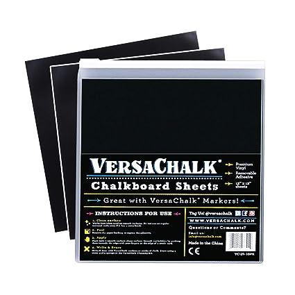 VersaChalk Vinyl Chalkboard Sheets 12 x 12-inch Pack of 20 - Vinyl  Chalkboard Sheets for Cricut, Xyron, Pazzles, Silhouette, Robo Craft,  Decals,