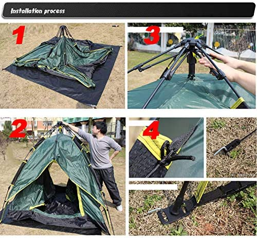 3-4 Persons Double Layers Durable Multifunctional Watterproof Flolding Outdoor Tent Shelter Awning for Family Beach Camping