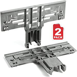 Reyhoar(Upgraded) 2 Pack Dishwasher Upper Rack Adjuster W10546503 Replacement Part - Compatible with Whirlpool & KitchenAid Dishwashers - Replaces W10306646 AP6022813 PS11756150