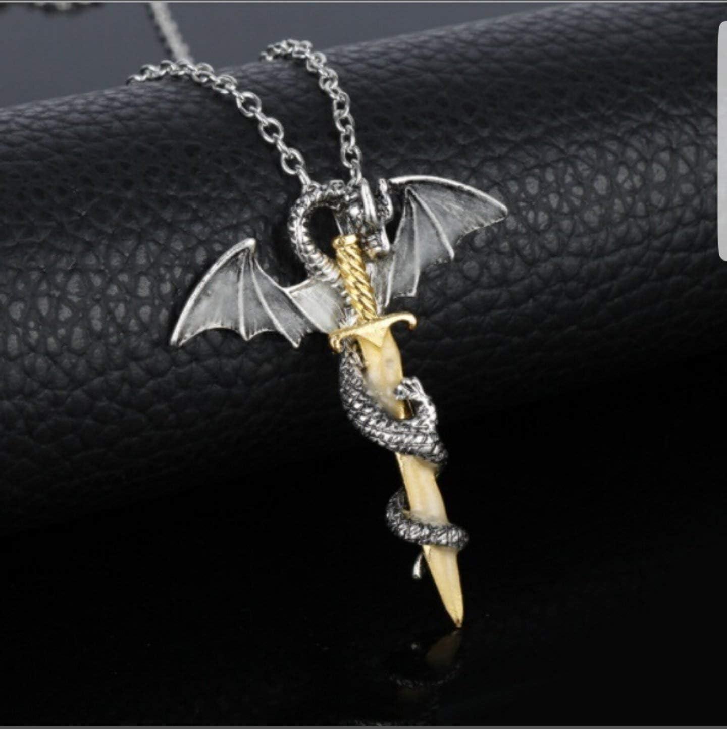 Bijoux Dragon Boucles doreilles Dragon Statuette Dragon F/éeries et merveilles Collier Dragon