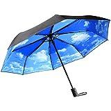 Regenschirm | InnooTech Automatischer Sonnenschirm Taschenschirm mit automatischem Öffnen und Schließen | UV-Sonnenschutzschirm für Sonne & Regen, amphibisch | Kompakter Reiseschirm für Frauen und Männer