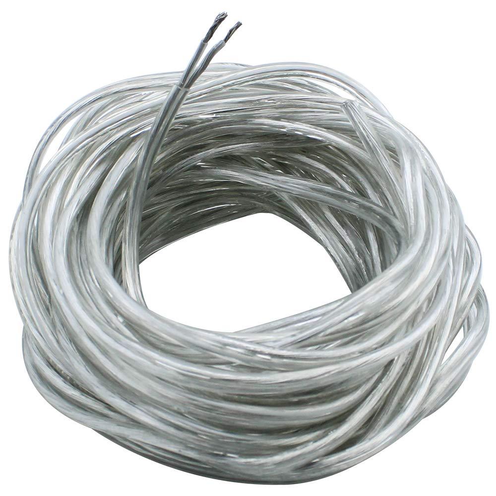 JaneYi 10 Metri Filo Bianco 2-Nucleo Cavo Elettrico Cavo Flessibile in PVC 0.75mm/² 5A Nucleo di Rame Cavo Piatto Cavo di Prolunga Tagliabile per lInstallazione di Elettrodomestici a Basso Consumo