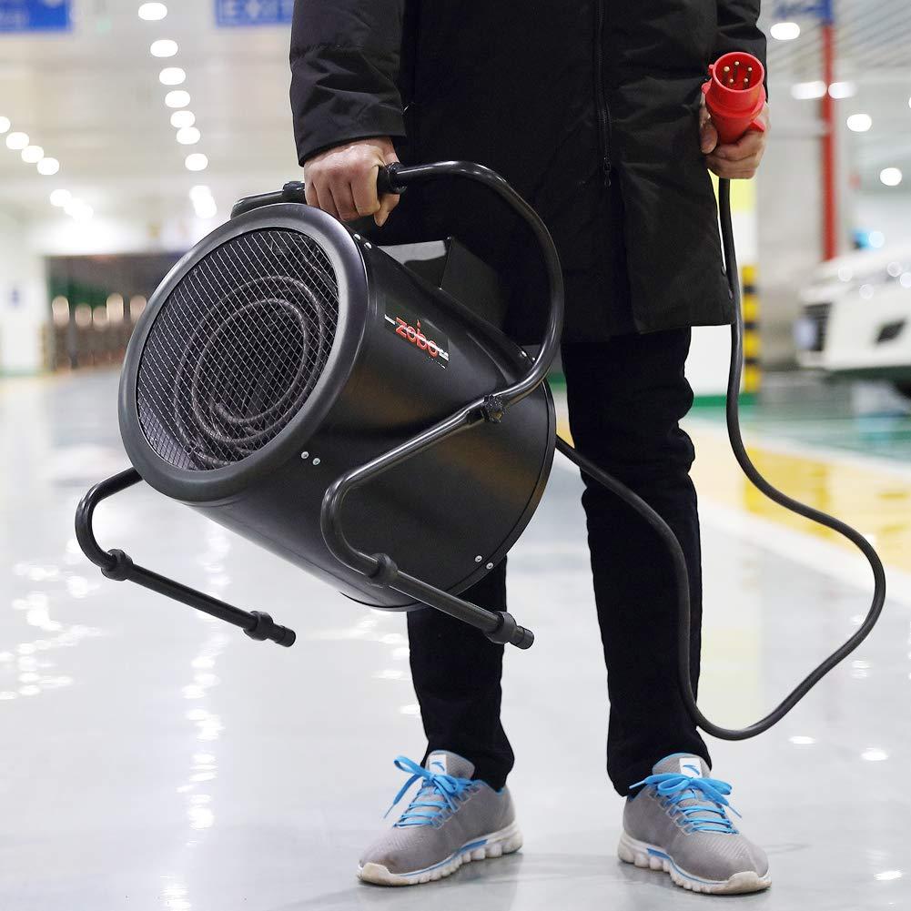 3kw//220v 3KW 220V Riscaldatore elettrico Riscaldatore di spazio Potente riscaldamento e raffreddamento a due scopi Potente termoventilatore Magazzino commerciale industriale Serra ufficio domestico