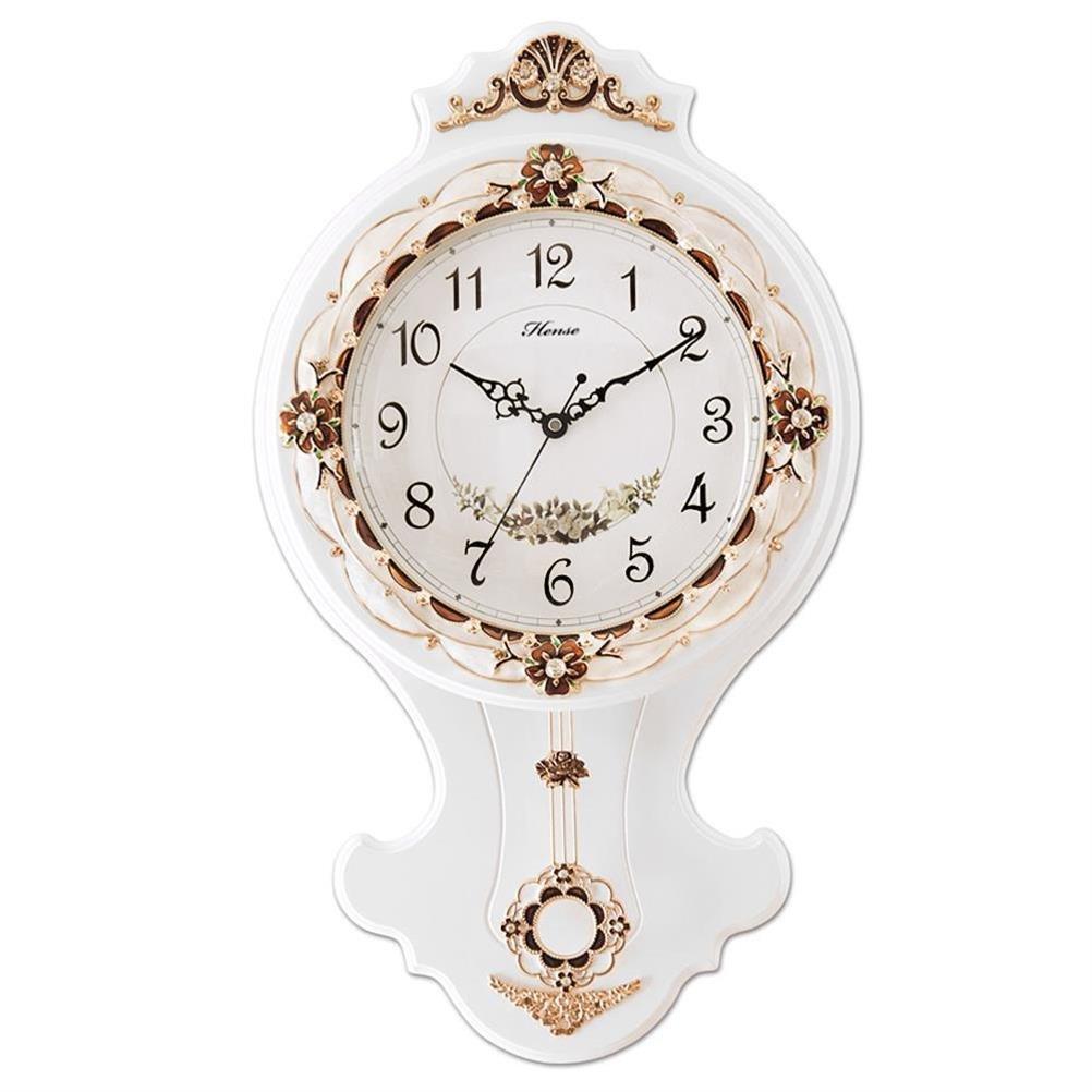 HENSE CLOCKS(ハンセ) 木製 振子時計 HP03-A-01 白い B01CV6Y2WC HP03-A-01 白い HP03-A-01 白い