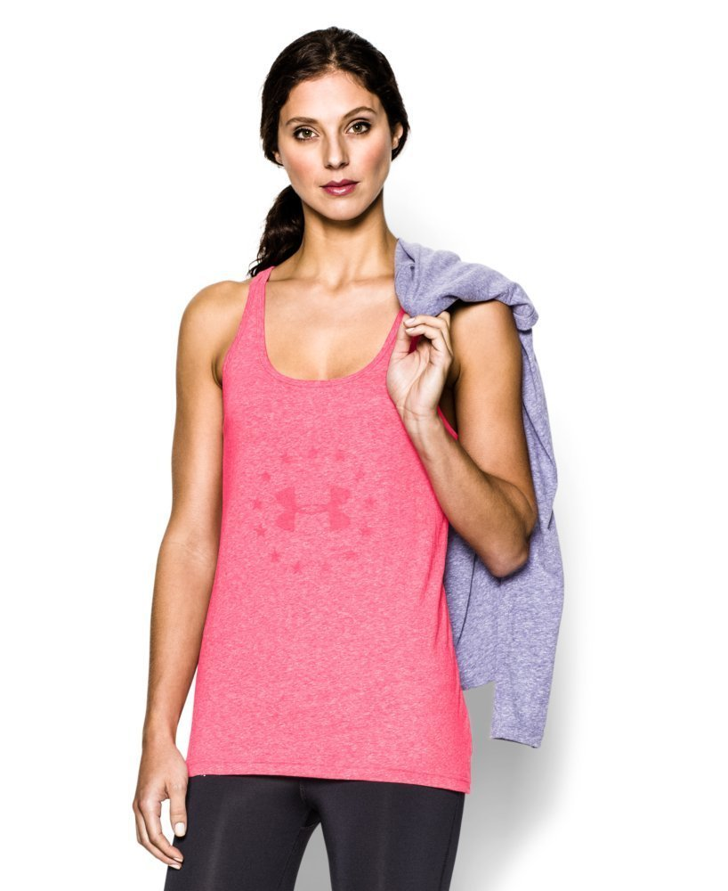 Under Armour Women's UA Freedom Tri-Blend Tank X-Large PINK SHOCK