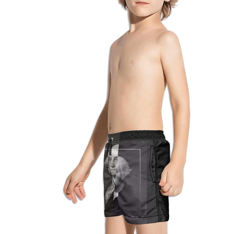 FullBo Washington as The King 1st President Little Boys Short Swim Trunks Quick Dry Beach Shorts