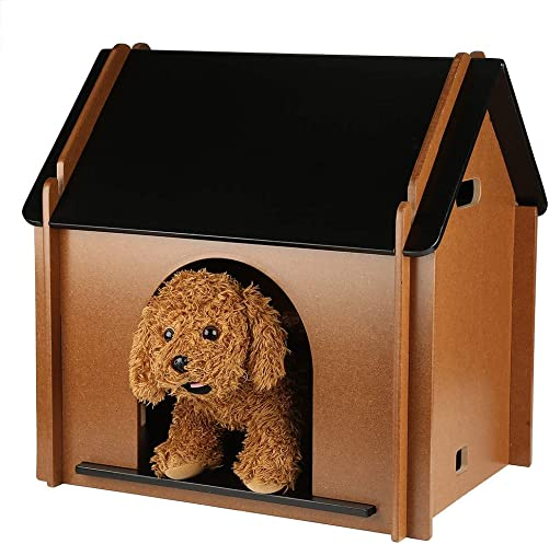 Outdoor Dog House, Dog House Cat House Foldable Wooden Pet House Shelter for Dogs and Cats Indoor Outdoor 20.514.920.9in